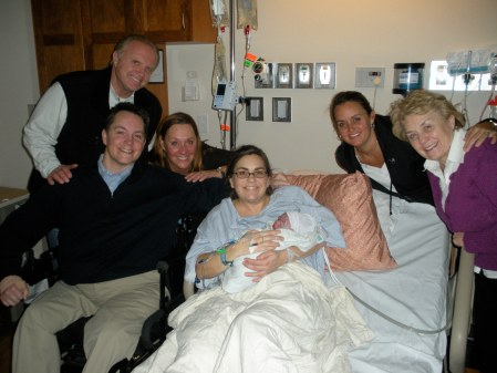 From left to right (Grandpa Hall, Jason, Grandma Hall, Kolette, Aunt Kara, Grandma Coleman)