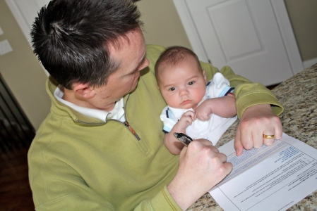 Coleman and I hammering out the details on our new deal.